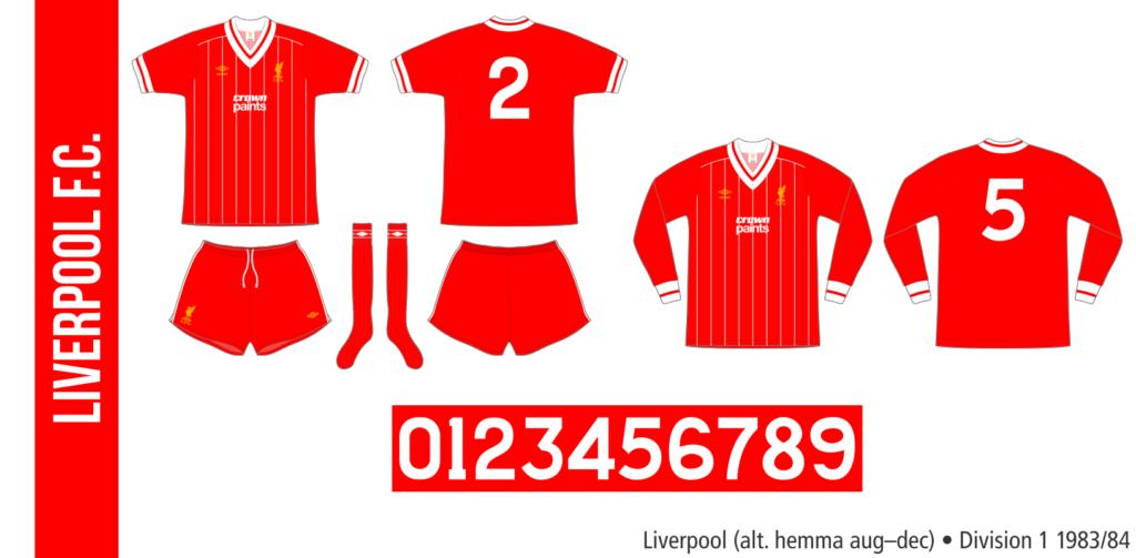 Liverpool 1983/84 (alternativ hemma augusti–december)