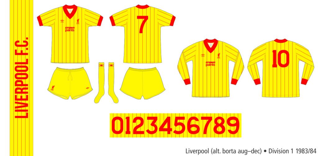 Liverpool 1983/84 (alternativ borta augusti–december)
