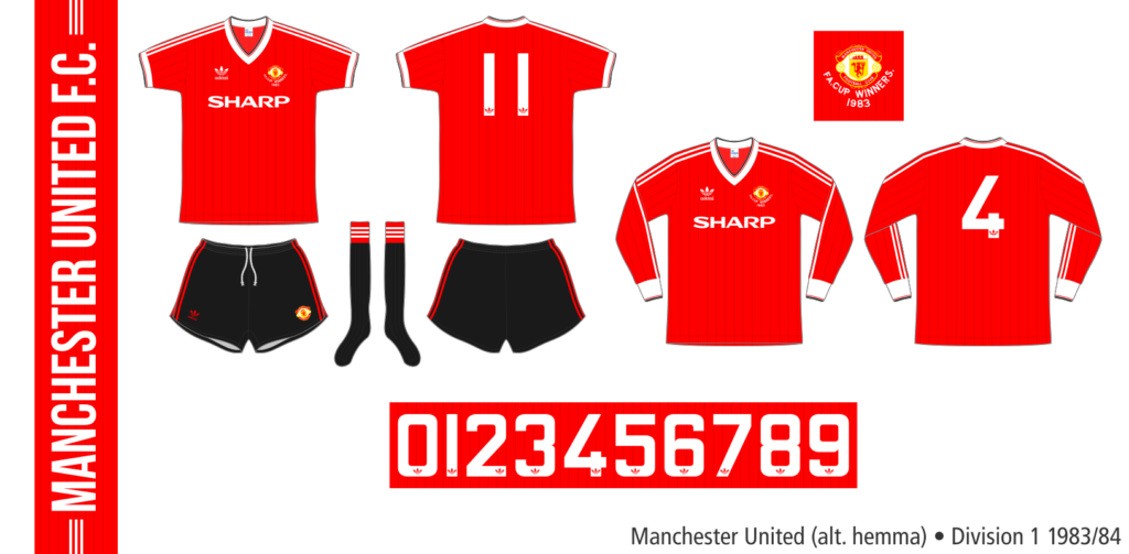 Manchester United 1983/84 (alternativ hemma)