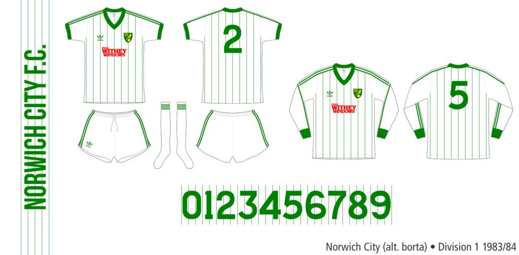 Norwich City 1983/84 (alternativ borta)