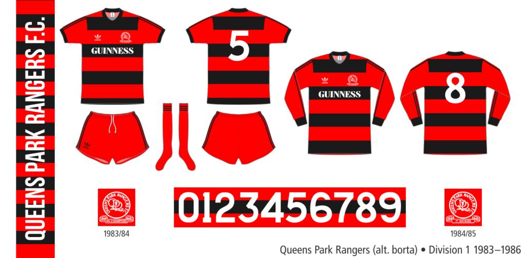 Queens Park Rangers 1983–1986 (alternativ borta)