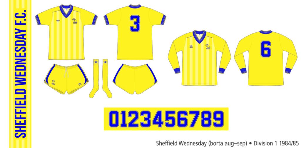 Sheffield Wednesday 1984/85 (borta augusti–september)