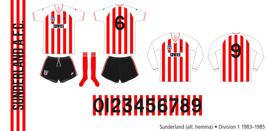 Sunderland 1983–1985 (alternativ hemma)