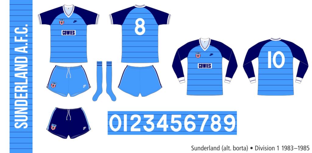 Sunderland 1983–1985 (alternativ borta)