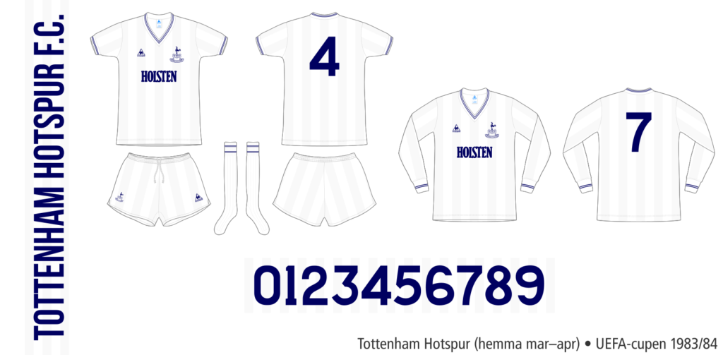 Tottenham Hotspur 1983/84 (UEFA-cupen hemma mars–april)