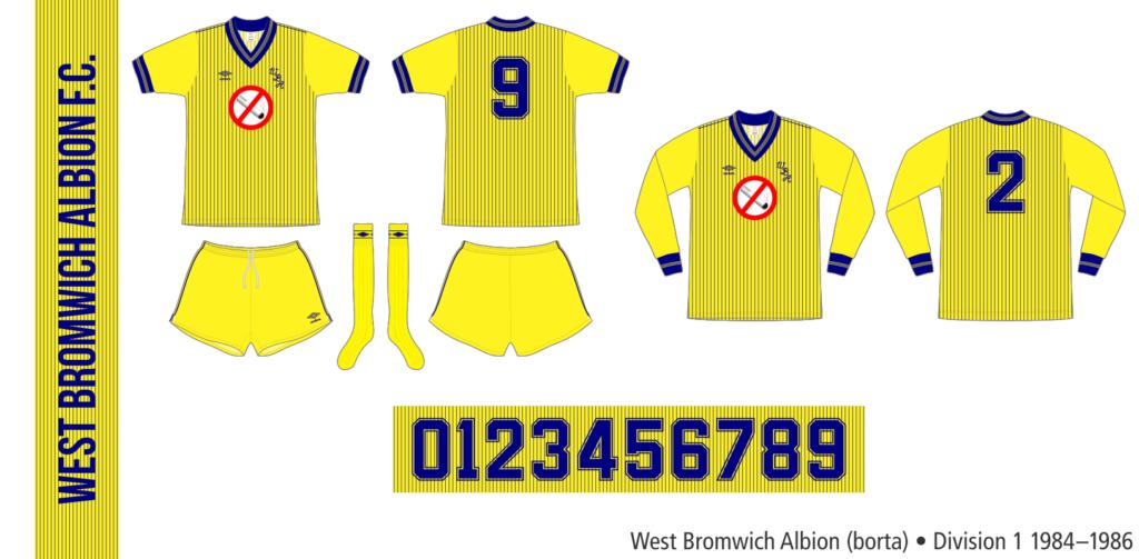 West Bromwich Albion 1984–1986 (borta)