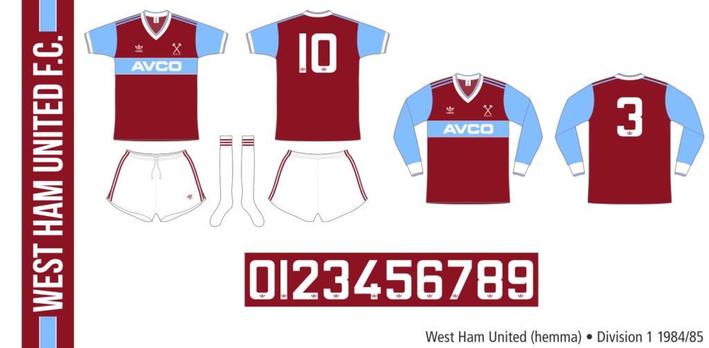 West Ham United 1984/85 (hemma)