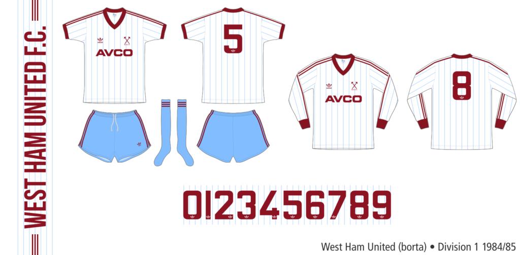 West Ham United 1984/85 (borta)
