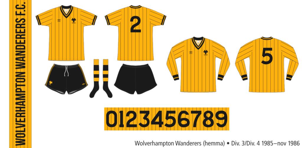 Wolverhampton Wanderers 1985–november 1986 (hemma)