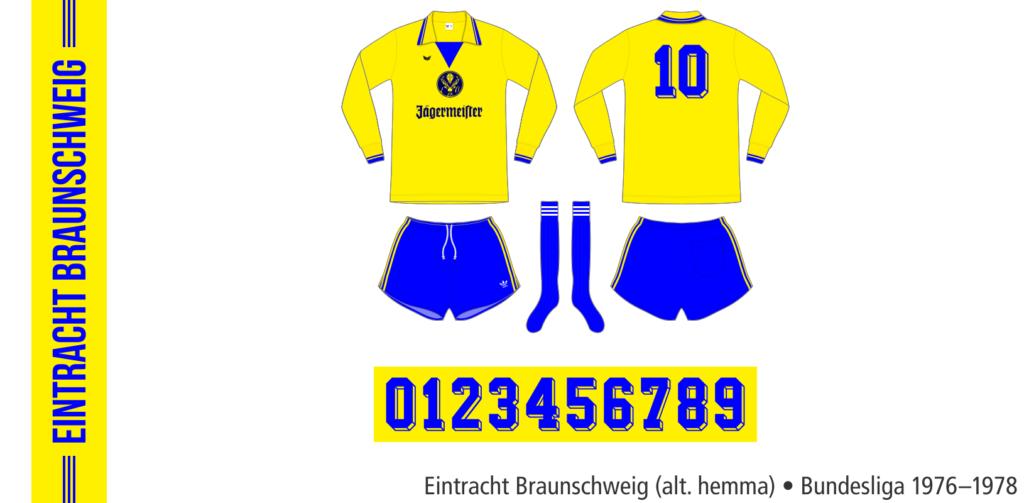 Eintracht Braunschweig 1976–1978 (alternativ hemma)