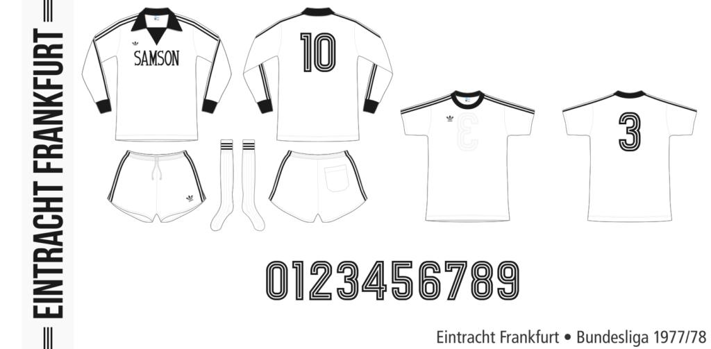 Eintracht Frankfurt 1977/78 (vit Adidas)