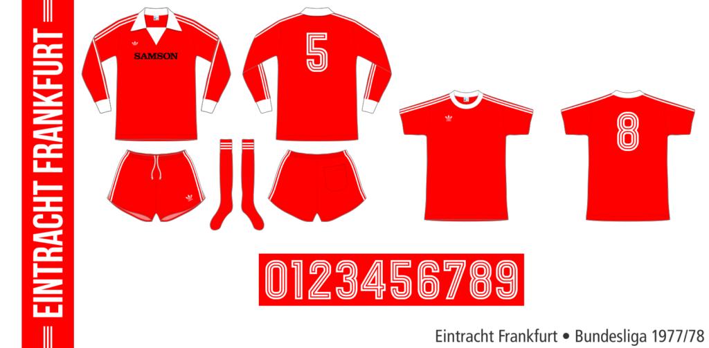 Eintracht Frankfurt 1977/78 (röd Adidas)