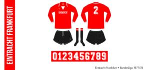 Eintracht Frankfurt 1977/78 (röd Erima)
