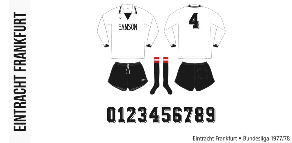 Eintracht Frankfurt 1977/78 (vit Erima)