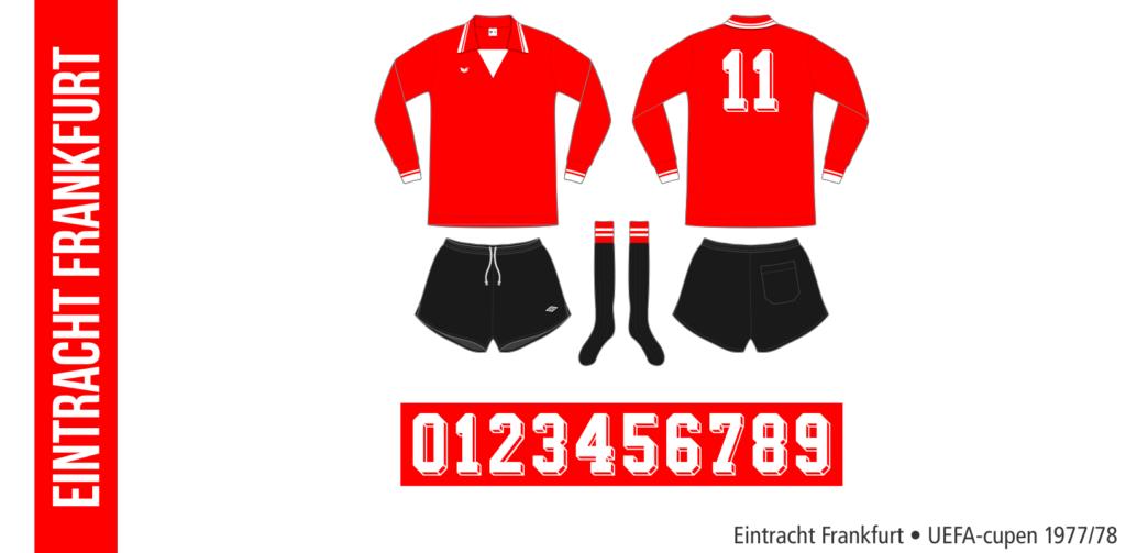 Eintracht Frankfurt 1977/78 (röd Erima, UEFA-cupen)