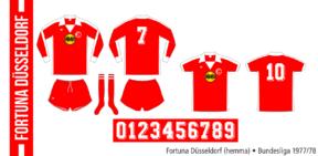 Fortuna Düsseldorf 1977/78 (hemma)